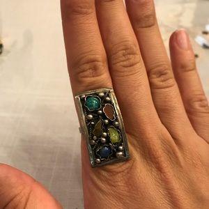 Vintage stone gray ring